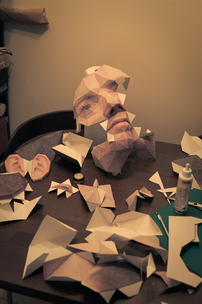Making a Big Head of Paper