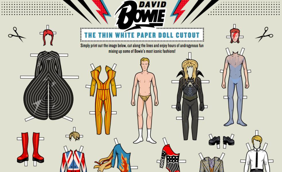 Bowie Paper Dolls